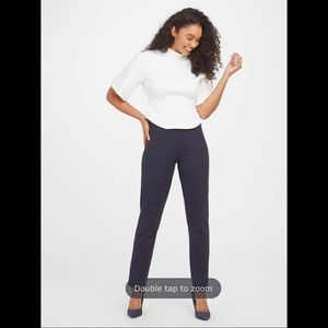 SPANX-The Perfect Pant, Slim Straight Navy Pant